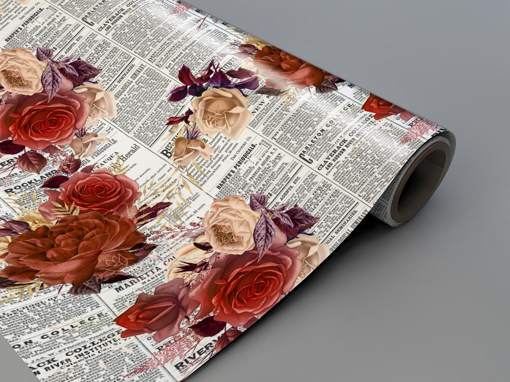 Autocolant-mobila-model-ziare-cu-flori-v5-4-7731
