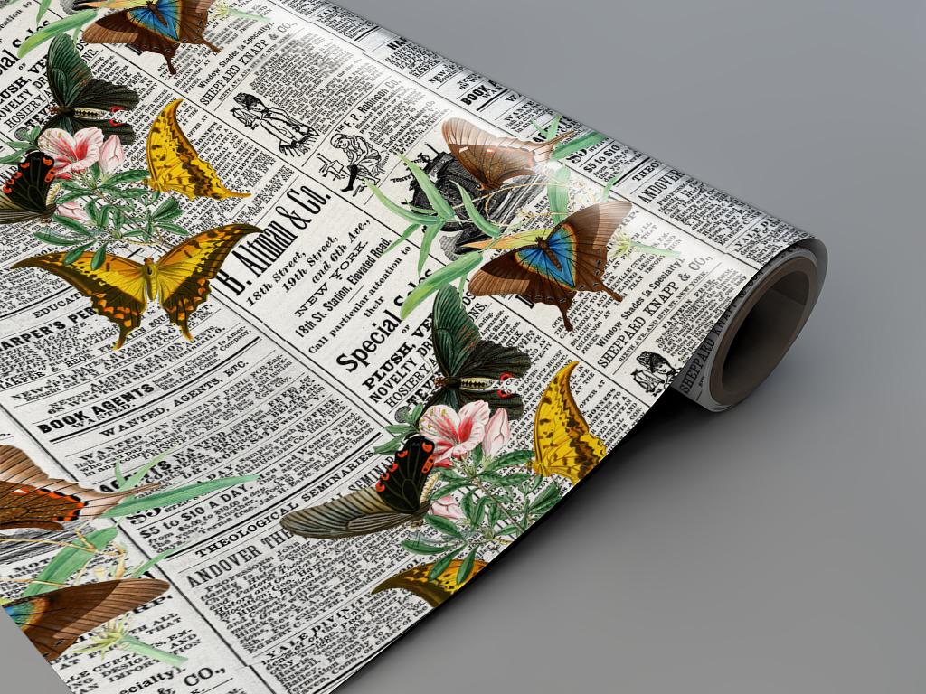 Autocolant-mobila-model-ziare-cu-flori-v7-4-3800