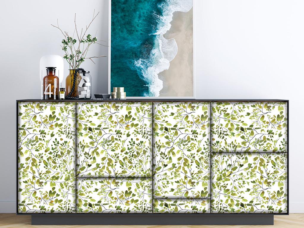Autocolant-perete-model-plante-lime-3-9903