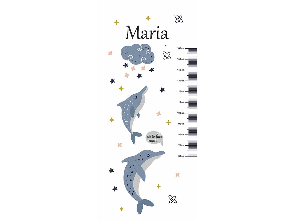 Autocolant-uşă-pentru-cameră-copii-Folina-cu-delfini-şi-gradaţie-metru-3-4536