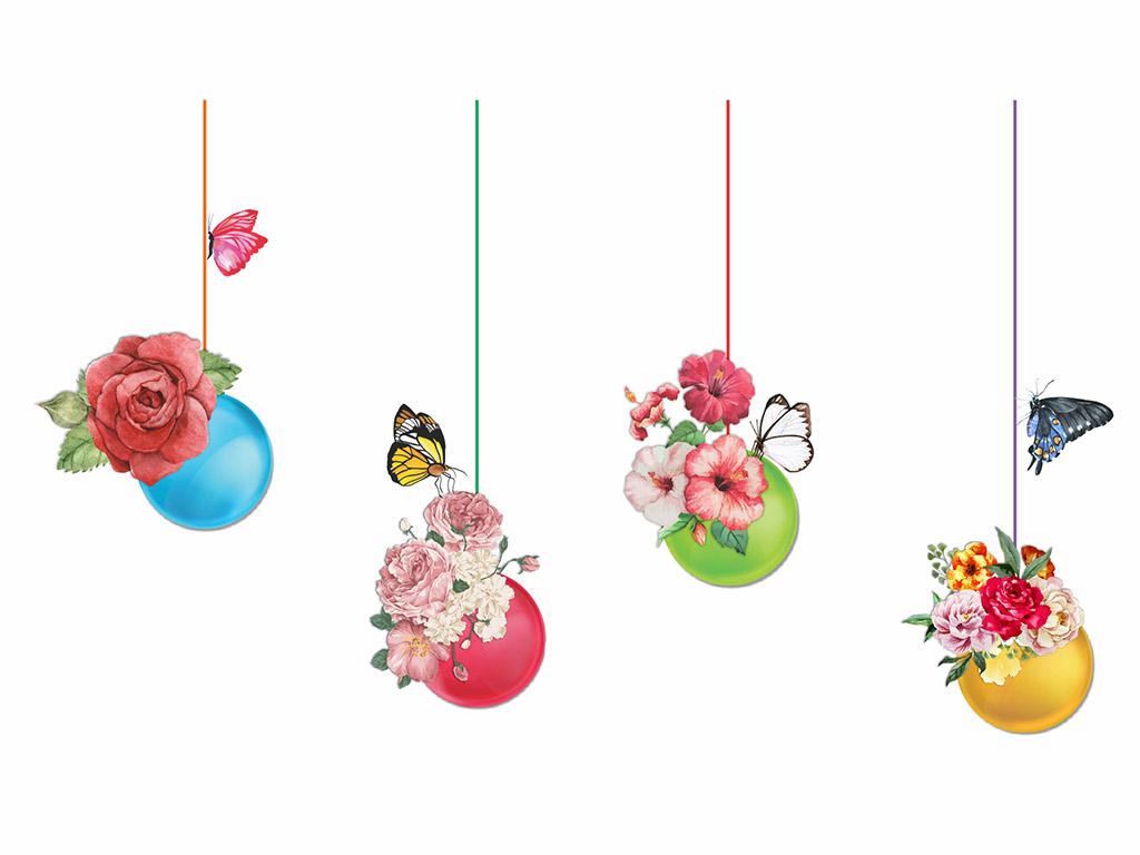 Sticker-globuri-colorate-cu-flori-2317