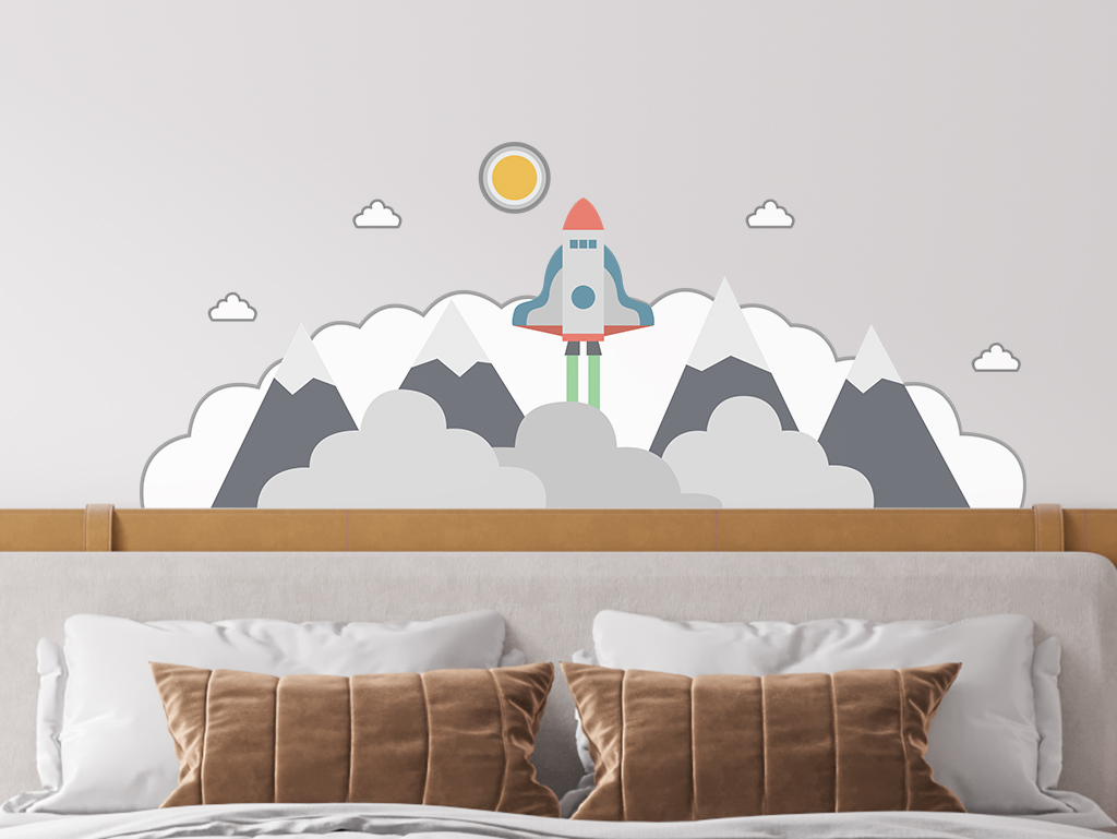 Sticker-perete-pentru-copii-model-racheta-nori-4-4162