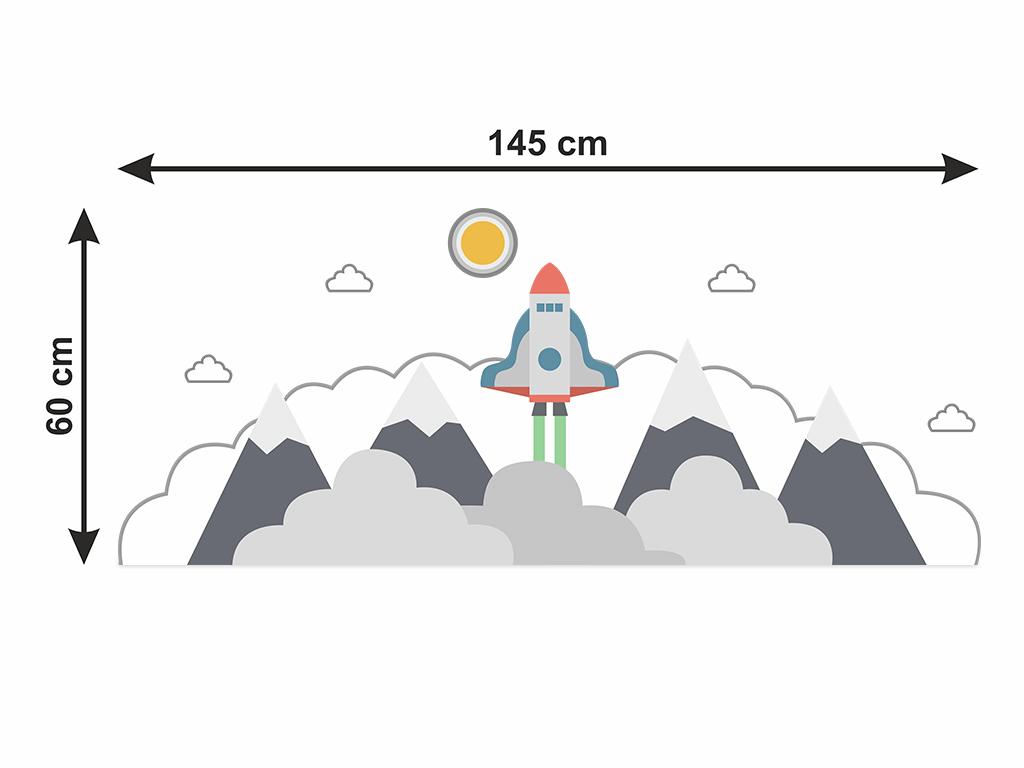 Sticker-perete-pentru-copii-model-racheta-nori-5-2040