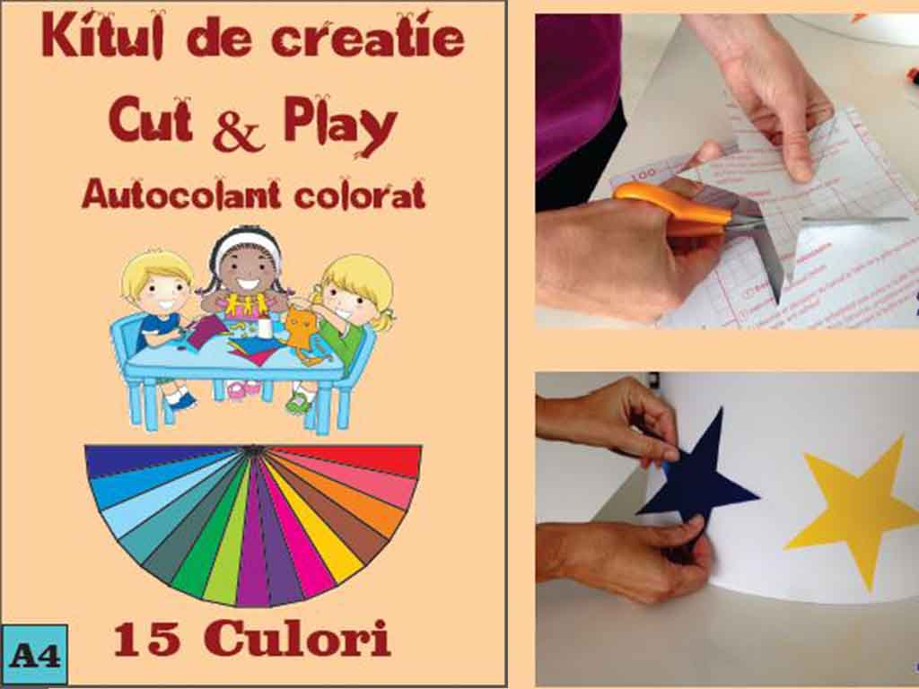 Autocolant A4 colorat Cut&Play