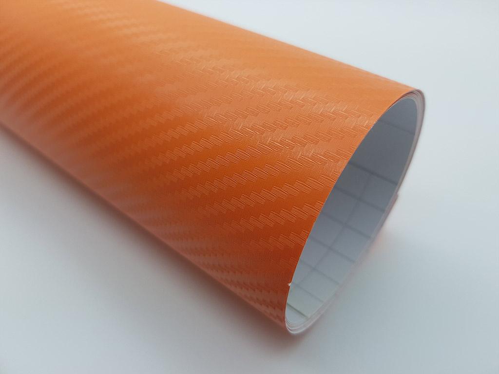 autocolant-auto-portocaliu-carbon-3d-7708