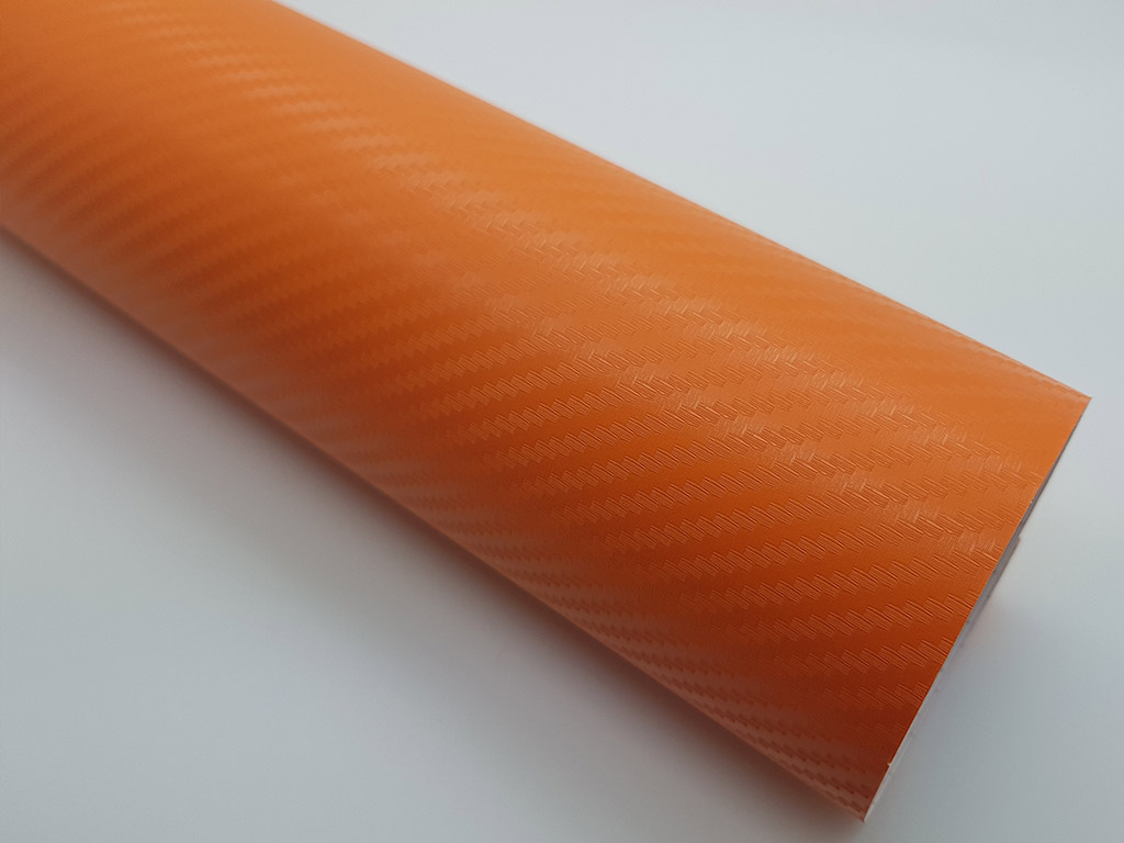 autocolant-carbon-3D-portocaliu-4669