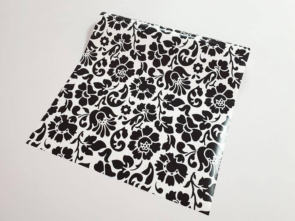 autocolant-decorativ-flori-negre-barock-6519