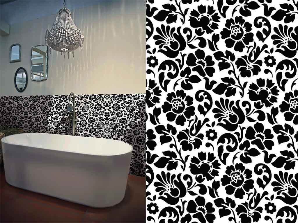 autocolant-decorativ-flori-negre-barock