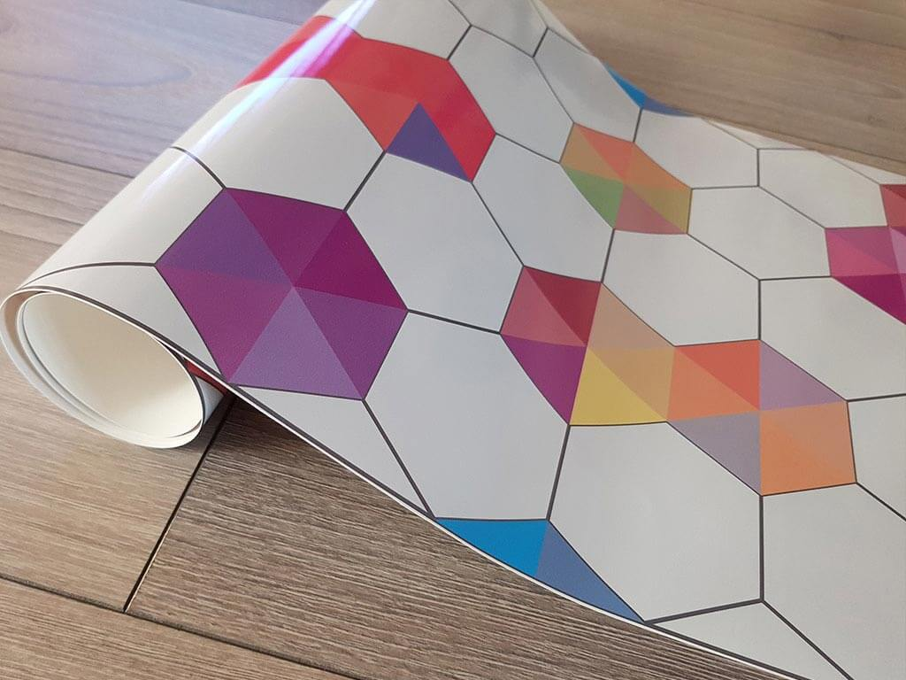 autocolant-decorativ-hexagoane-colorate-5744