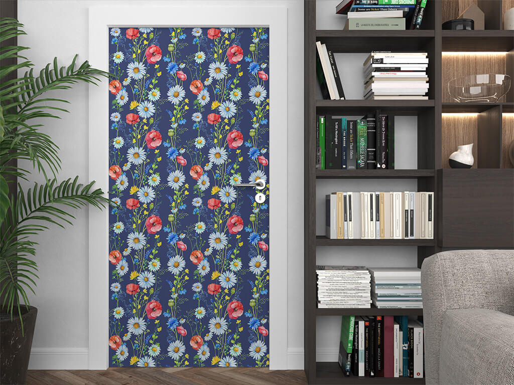 autocolant-decorativ-mobila-model-floral-albastru3-9641