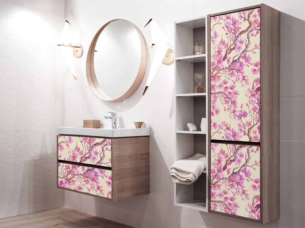 autocolant-decorativ-mobila-model-floral-oriental-roz-1-7392