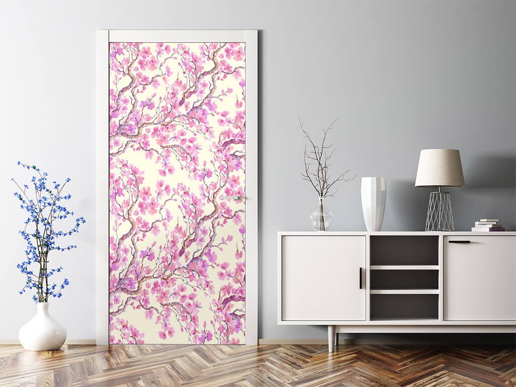 autocolant-decorativ-mobila-model-floral-oriental-roz-4-1344