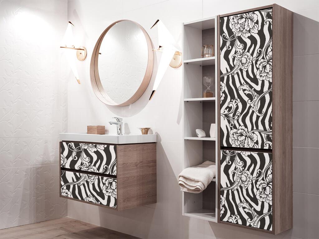 autocolant-decorativ-model-floral-zebra-3-2861