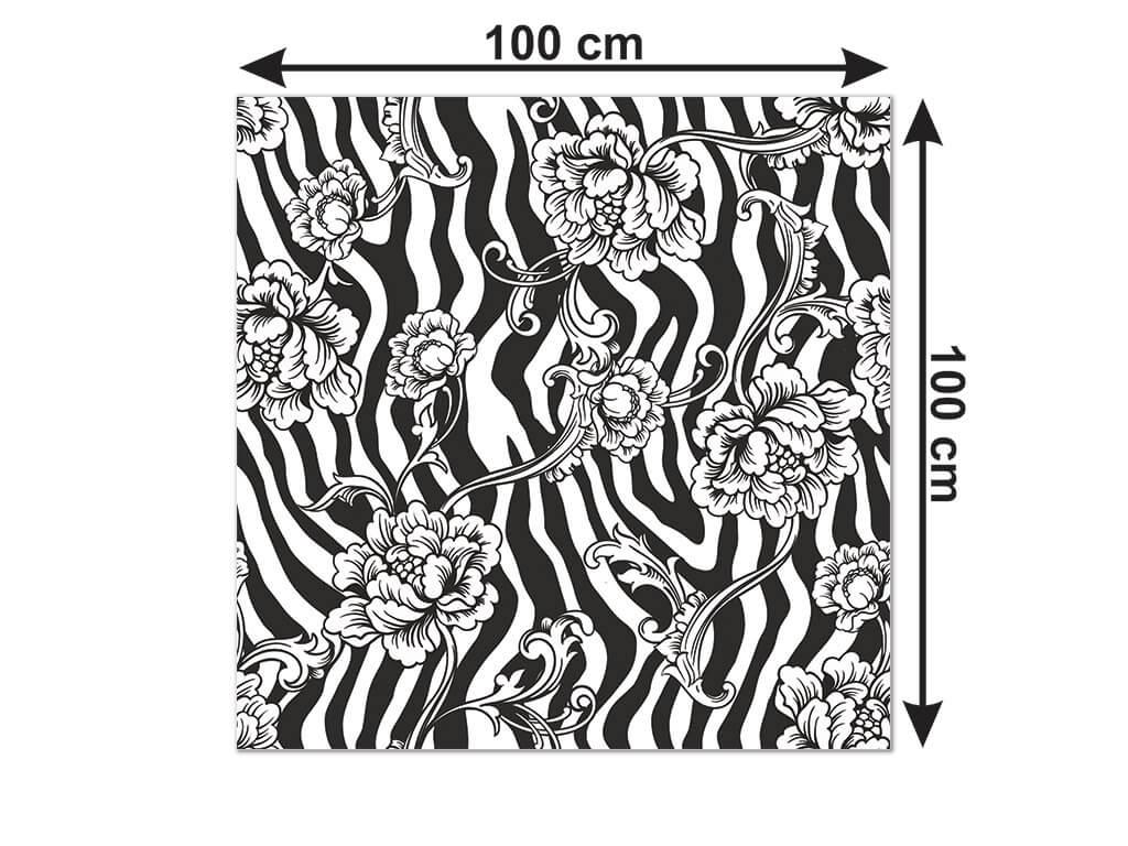 autocolant-decorativ-model-floral-zebra-4-6130
