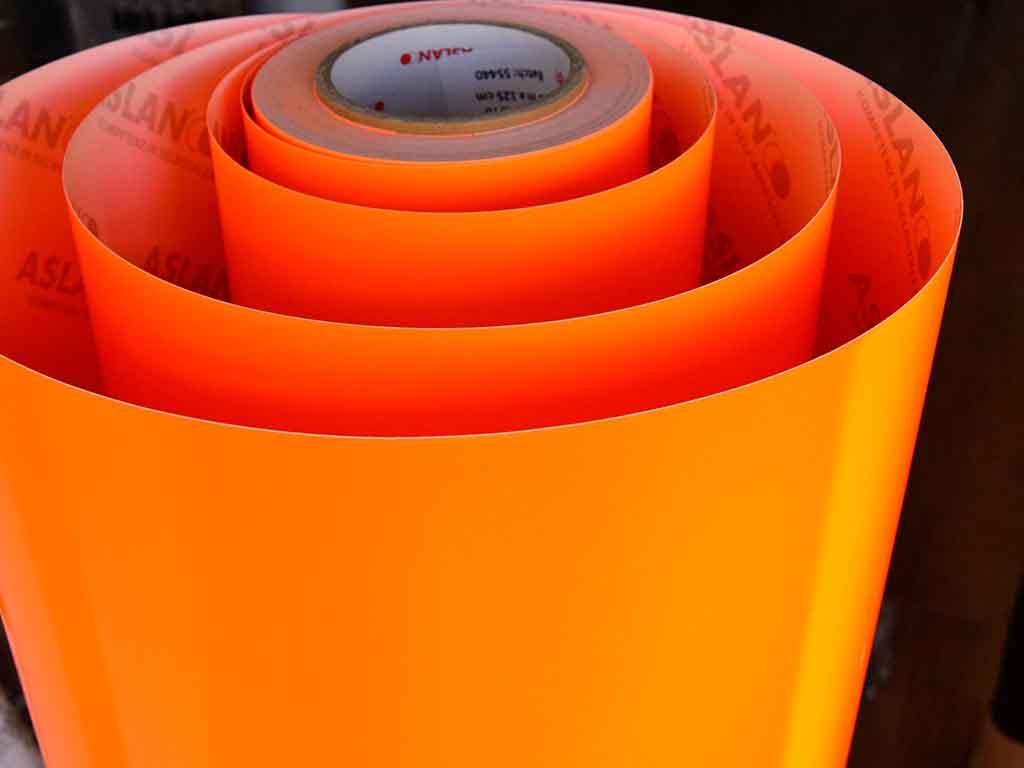 autocolant-fluorescent-portocaliu-4564