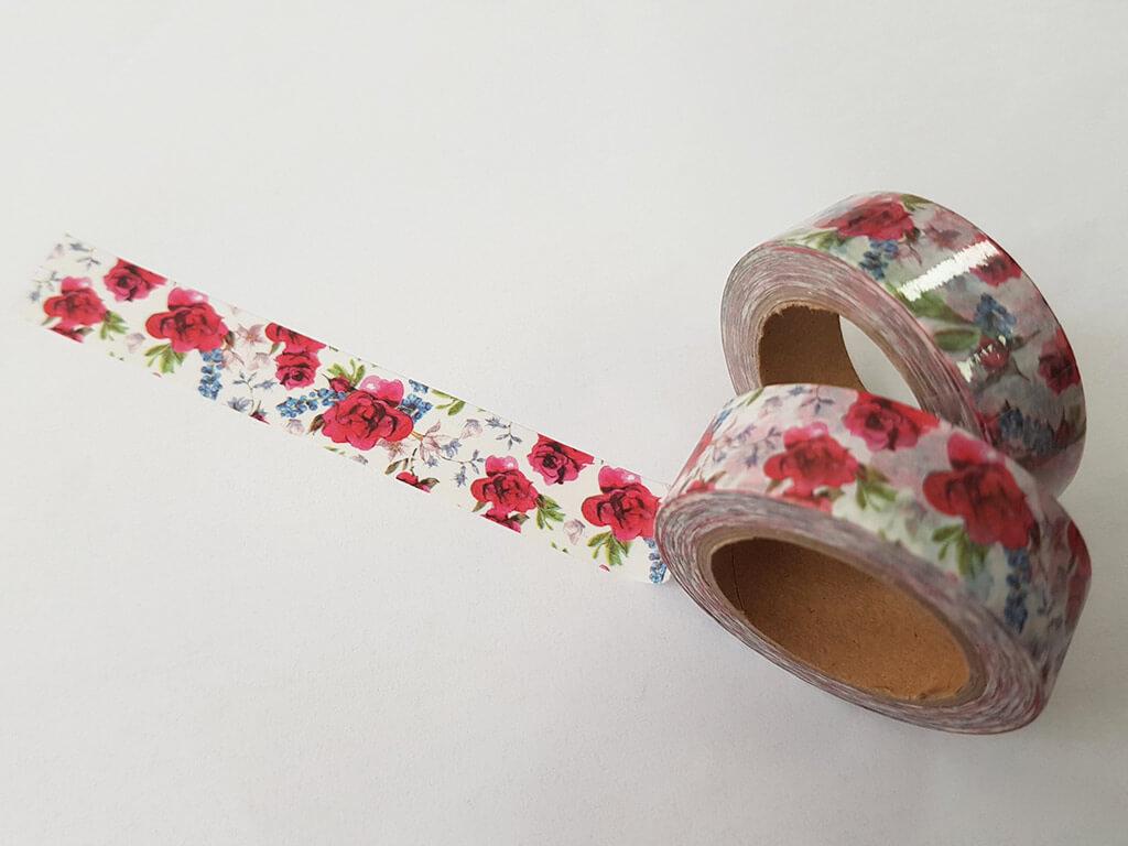 banda-adeziva-washi-tape-flori-rosii-1313