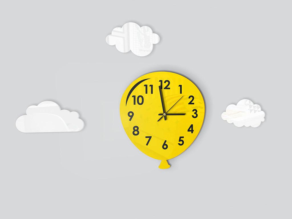 ceas-decorativ-balon-galben-2061