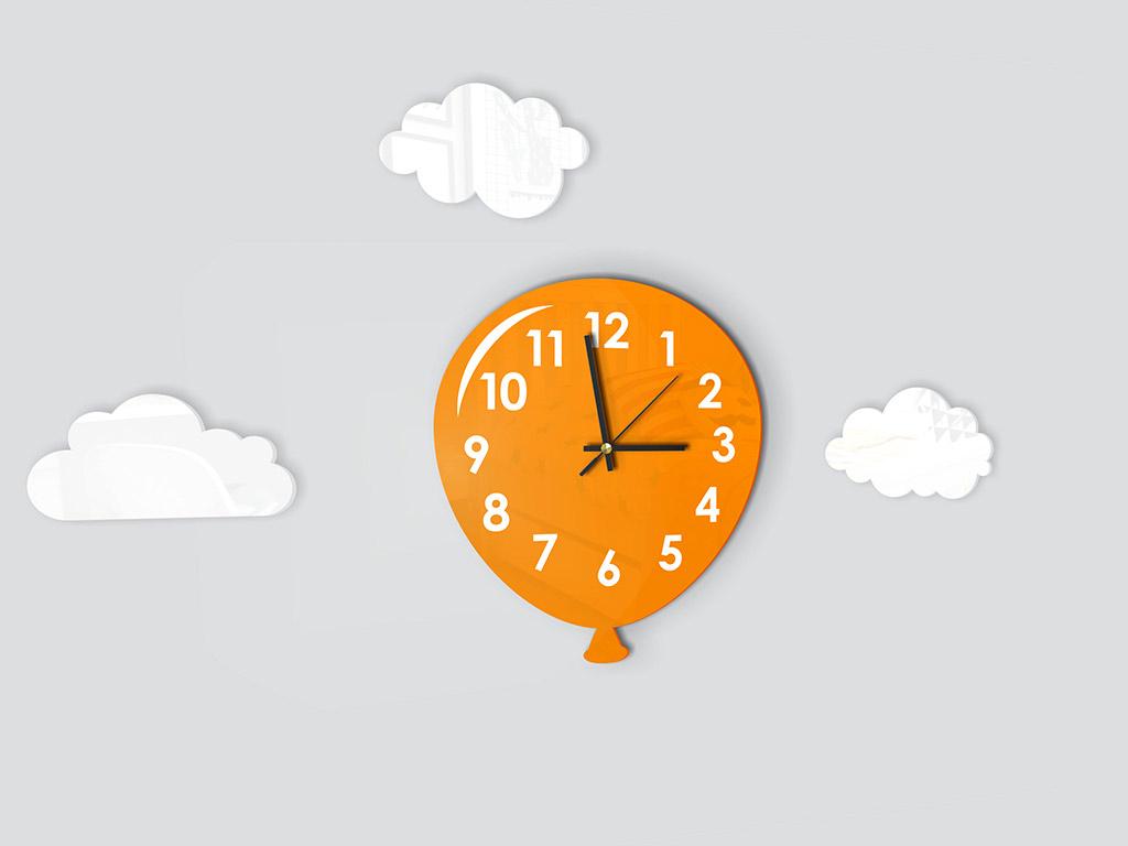 ceas-decorativ-balon-portocaliu-5469