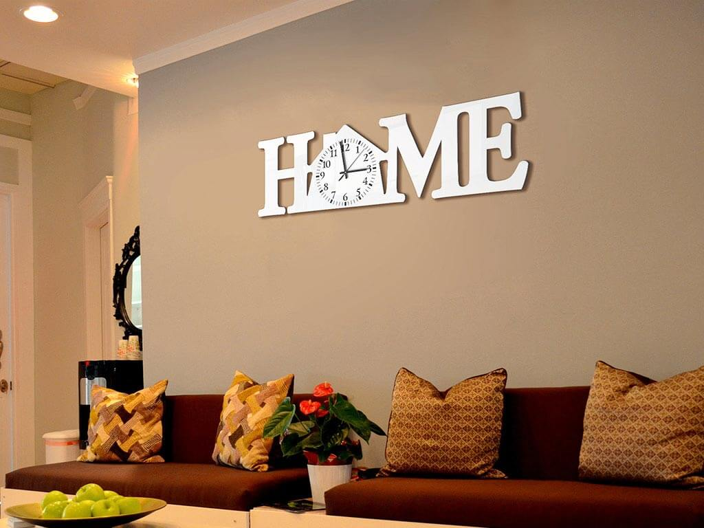 Ceas decorativ Home alb