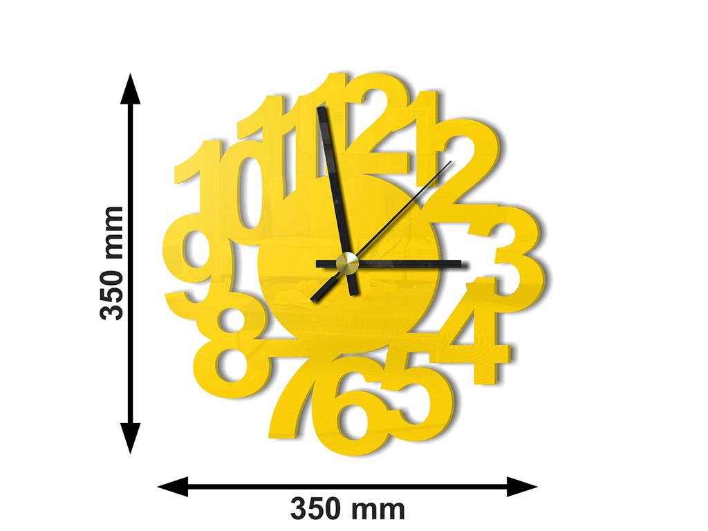 ceas-plexiglass-galben-office-3928