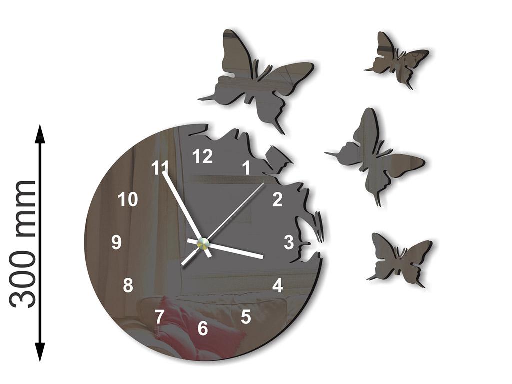 ceas-plexiglass-negru-model-fluturi