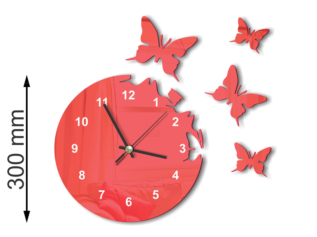 ceas-plexiglass-rosu-model-fluturi