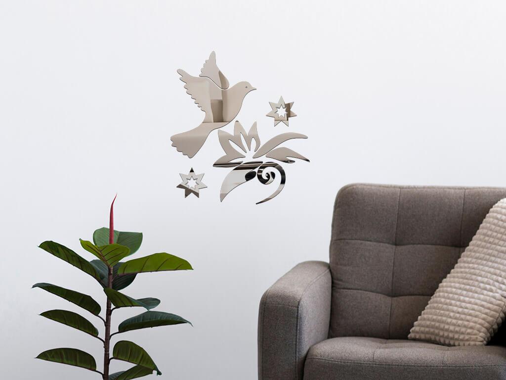 decoratiune-perete-oglinda-gri-pasare-in-zbor-6924