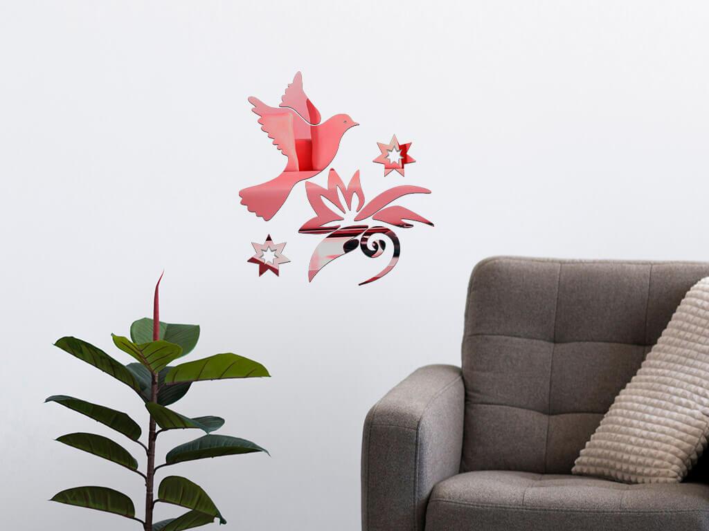 decoratiune-perete-oglinda-rosie-pasare-in-zbor-7342