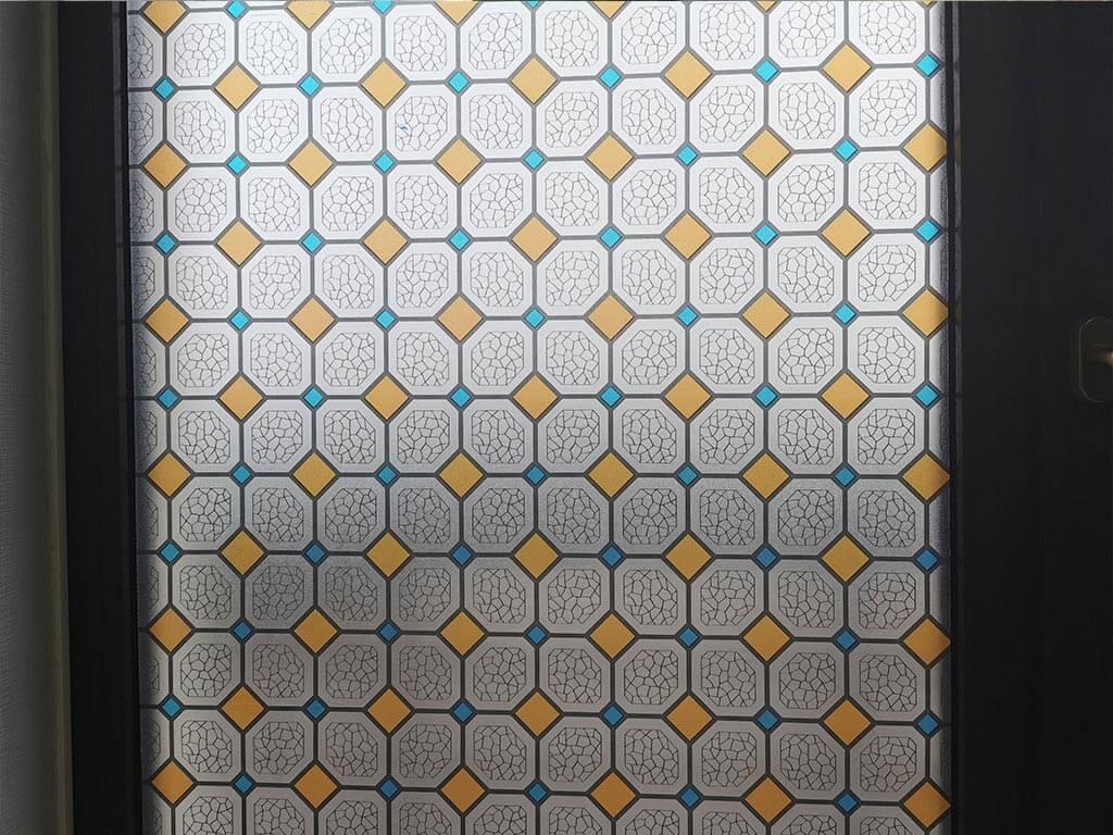 folie-geam-autoadeziva-vitraliu-geometic-portocaliu-5437