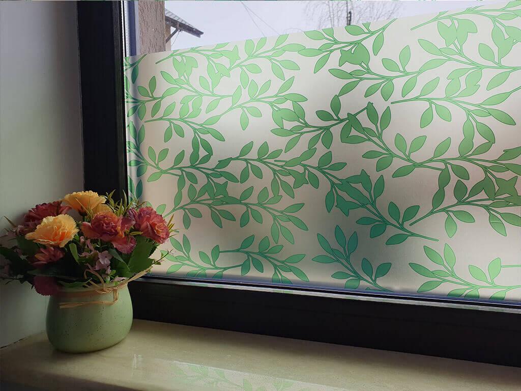 folie-geam-bej-cu-frunze-verzi-palmer-4794