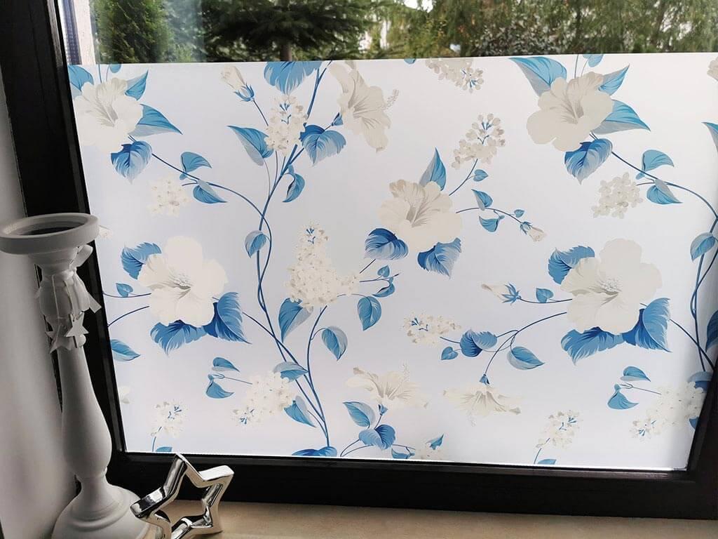 folie-sablare-cu-model-floral-albastru-1189
