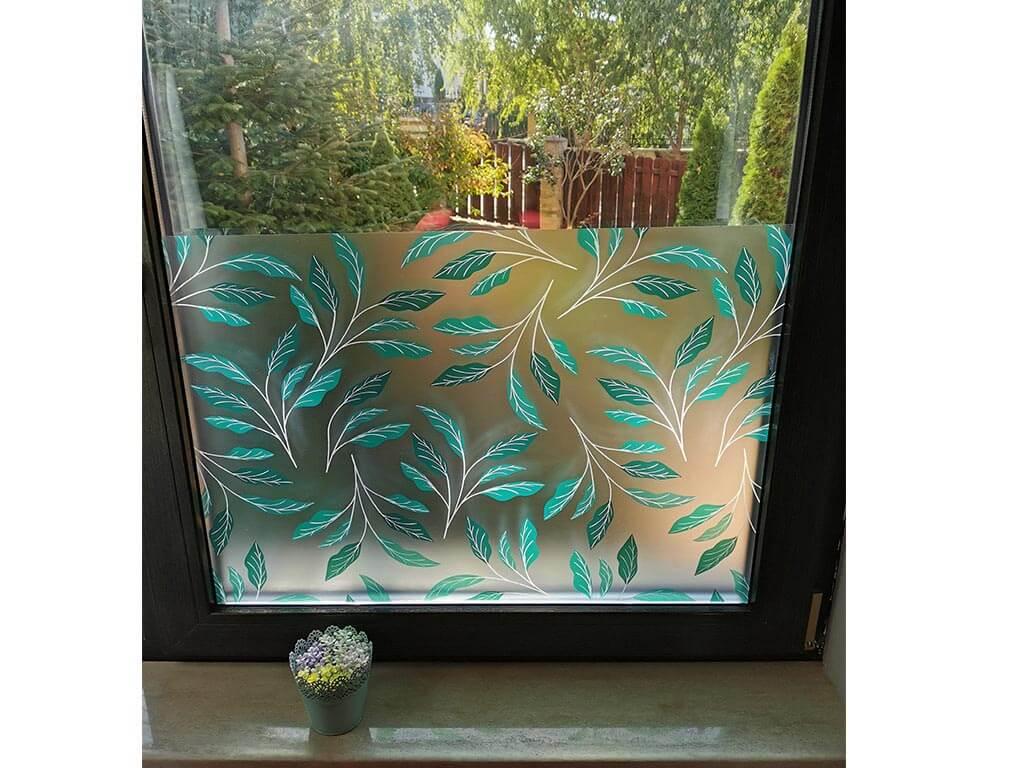 folie-sablare-geam-frunze-verzi-100-cm-latime-7348