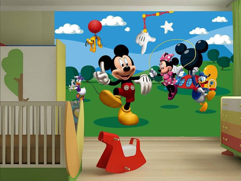 Fototapet Clubul Lui Mickey Mouse Tapet Copii Comanda De La Folina