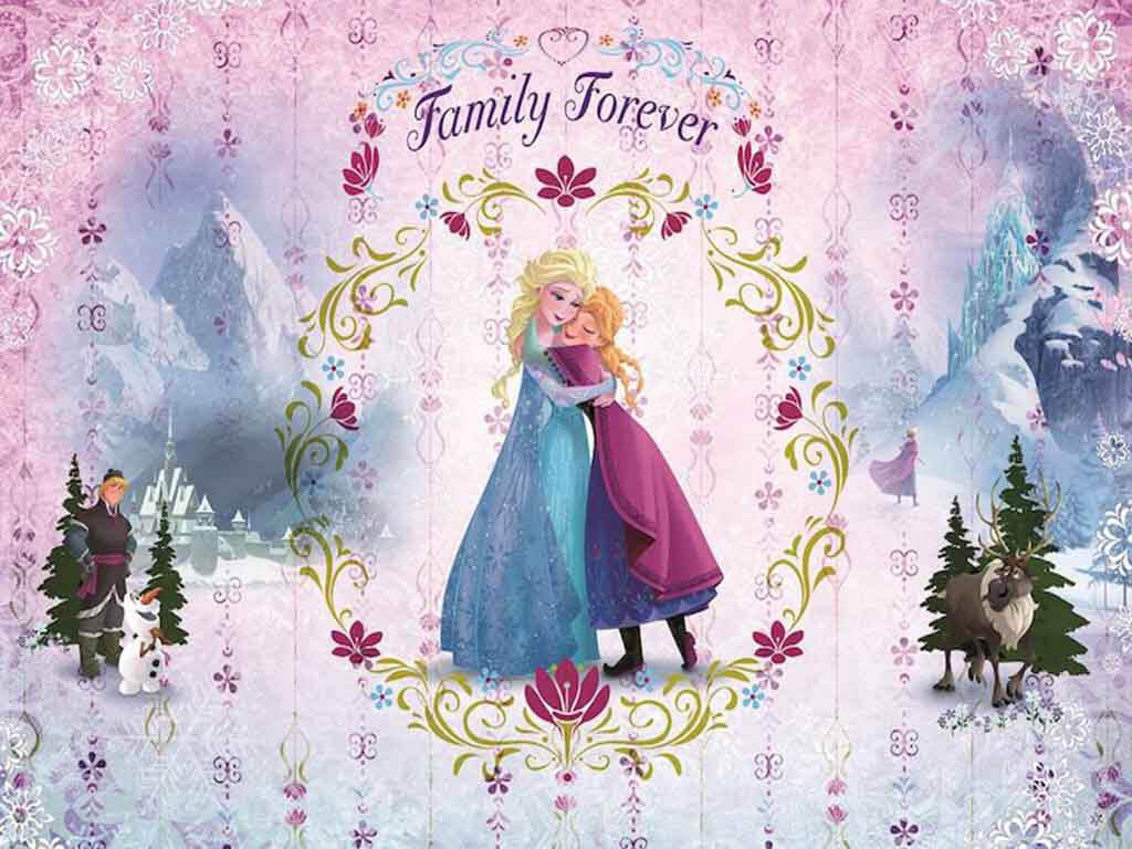 fototapet-copii-frozen-family-forever