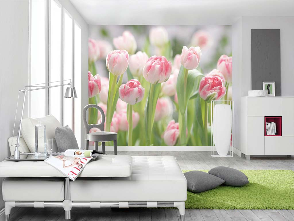 fototapet-floral-lalele-Secret-garden