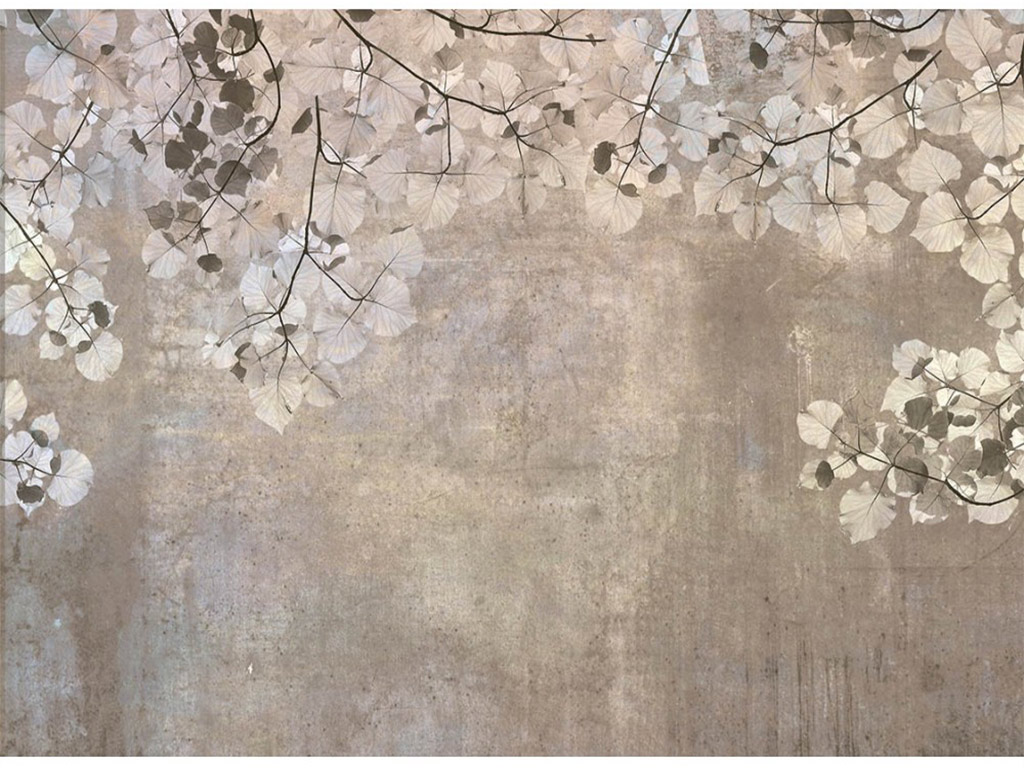 fototapet-frunze-dimex-Beige-leaves-375-250-cm-8603