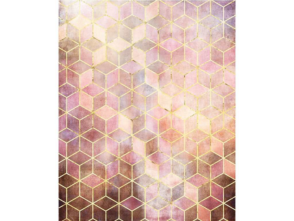 fototapet-roz-cu-model-geometric-6731