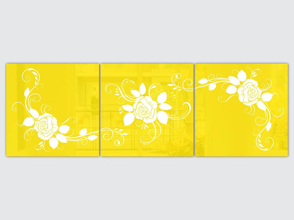 set-3-tablouri-Rosa-galben-1247