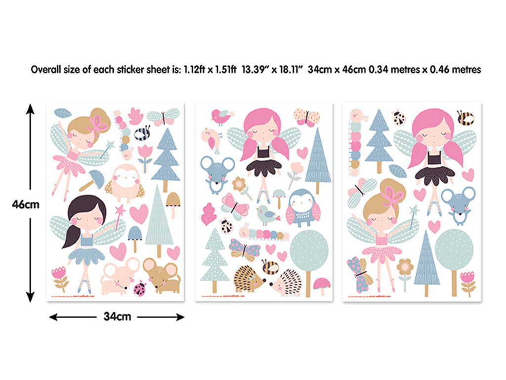 Set Stickere zâne Woodland Fairies
