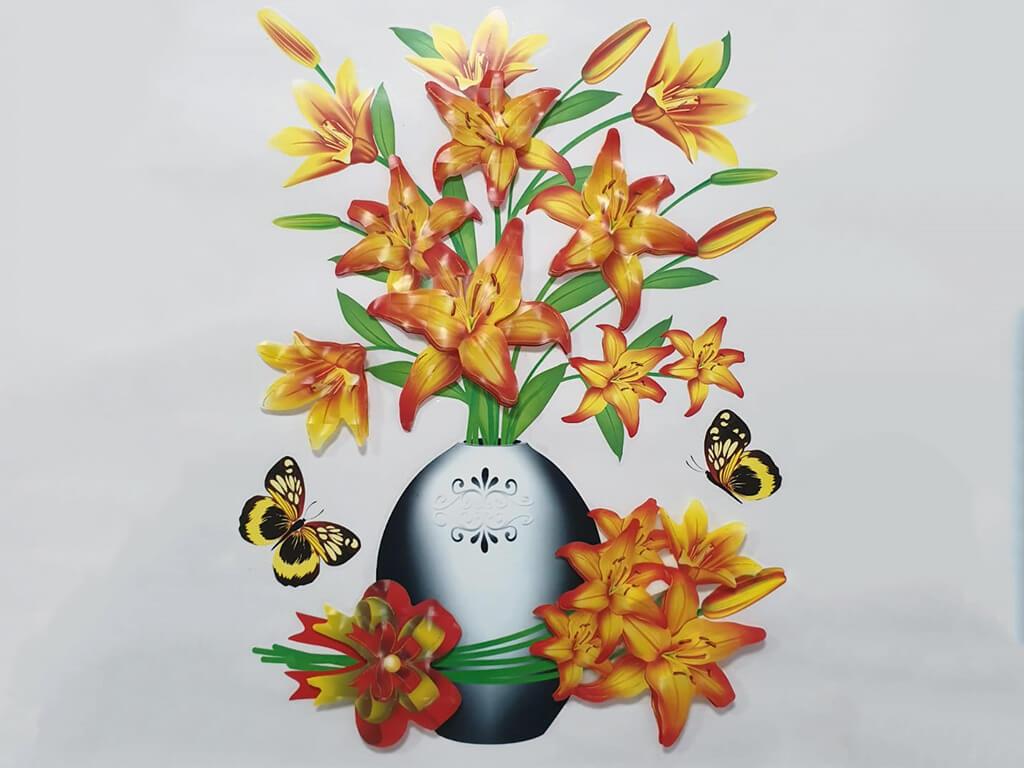 sticker-3d-vaza-cu-flori-portocalii-7644
