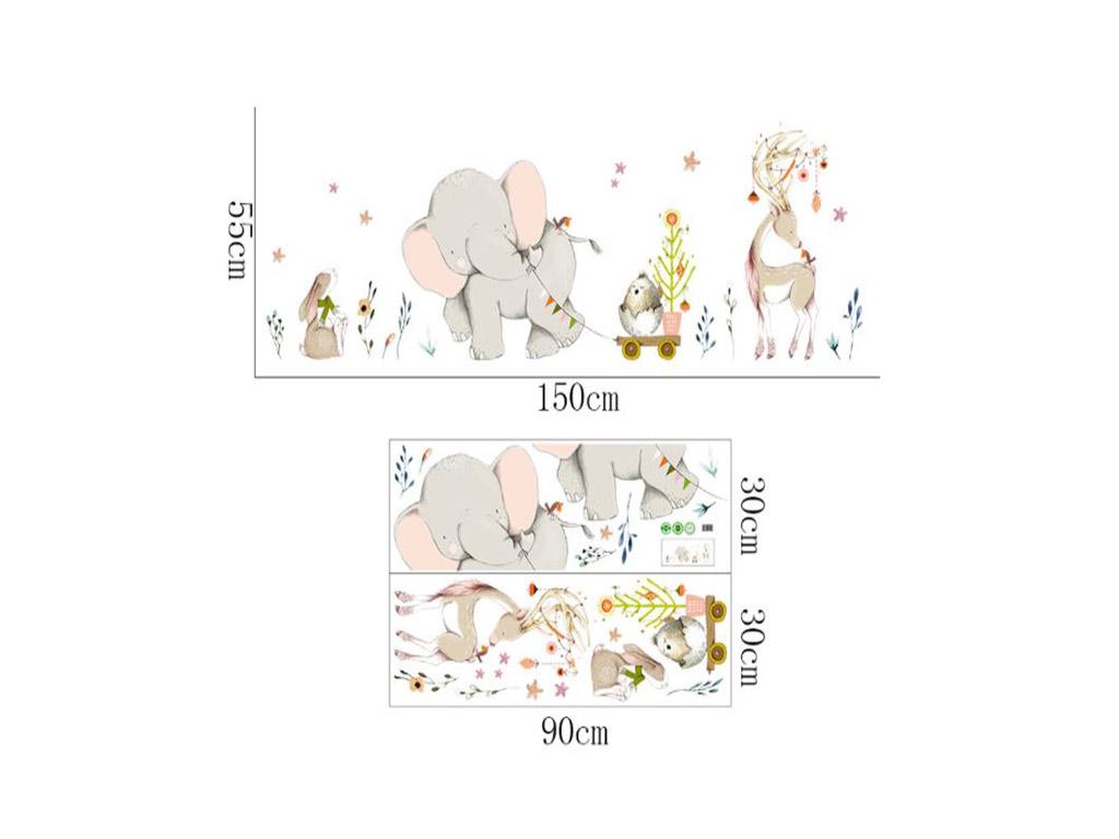 sticker-copii-happy-friends-folina-model-animale-2308