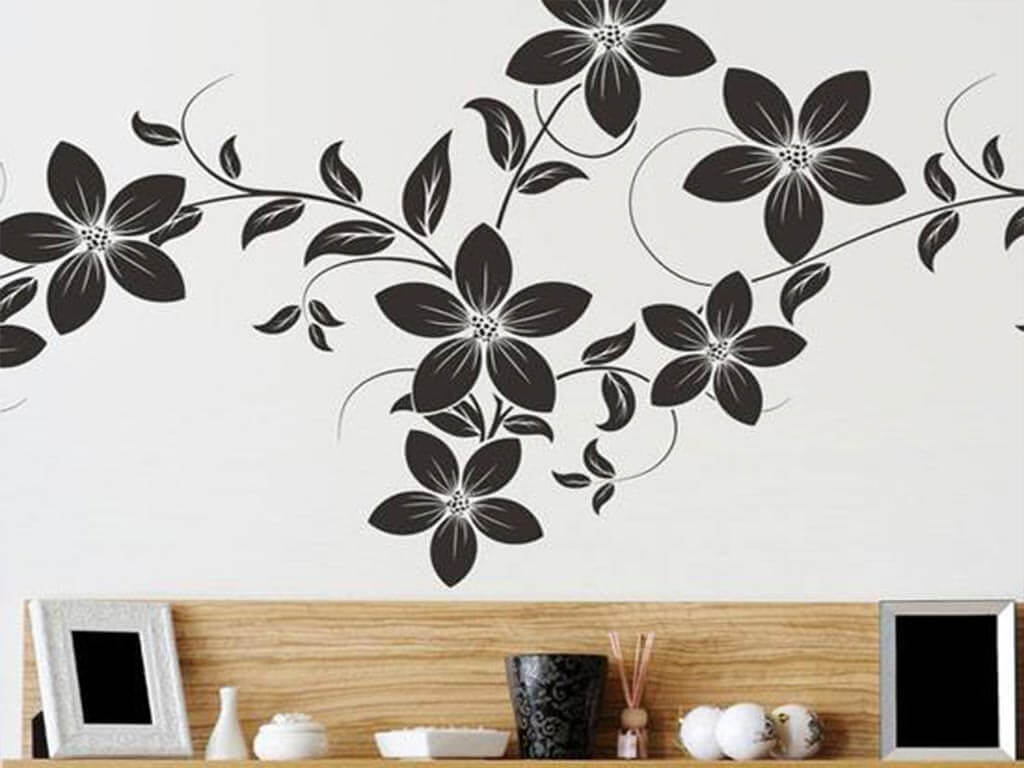 Sticker Decor floral negru Dora