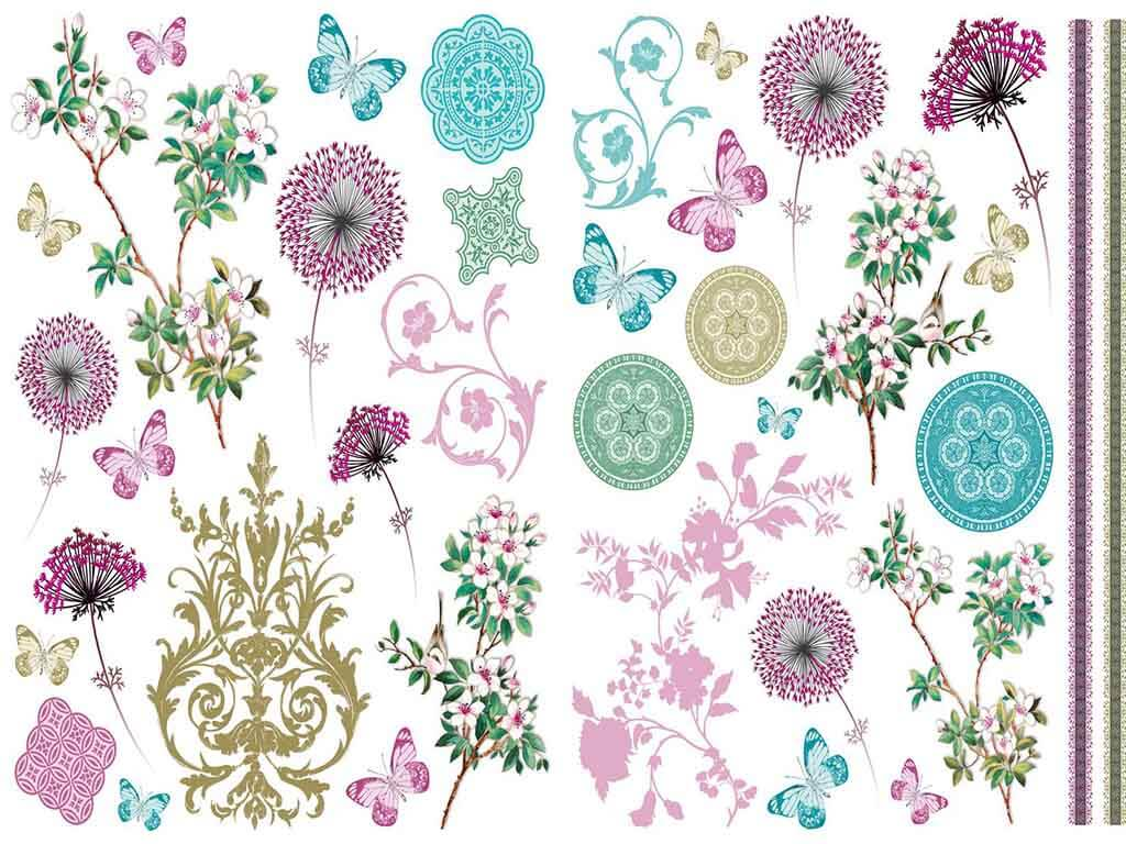Sticker decorativ Ornamente Florale