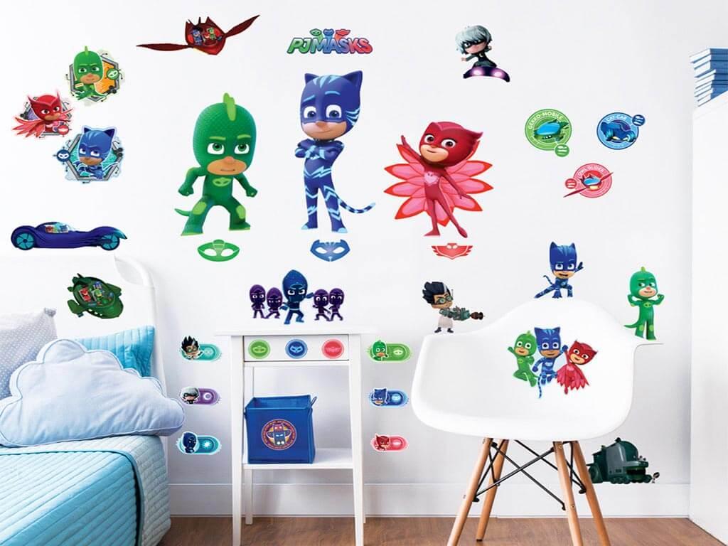 Sticker Eroi în Pijama Pj Masks Stickere Copii Folina