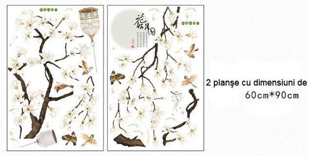 sticker-flori-magnolie-si-pasari-6662