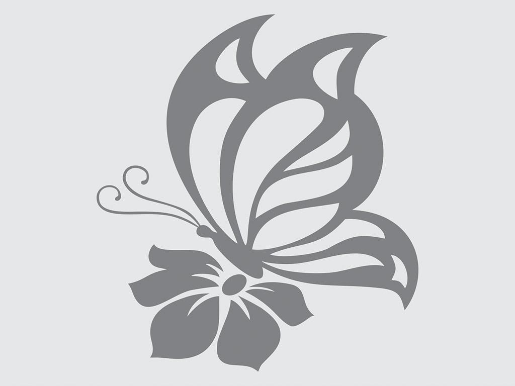 sticker-fluture-gri-4924