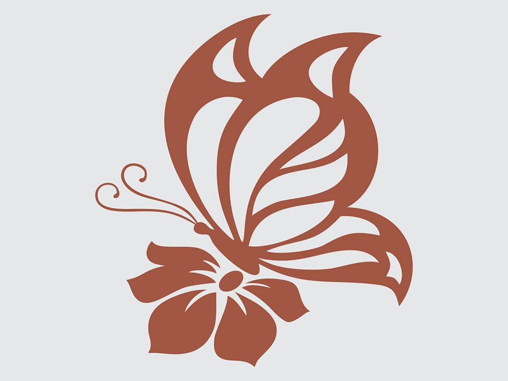 sticker-fluture-maro-9229