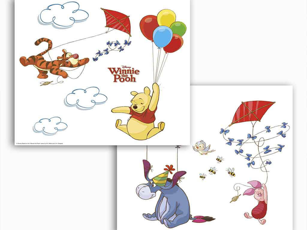 Sticker geam Disney Winnie the Pooh, Komar, pentru copii, multicolor