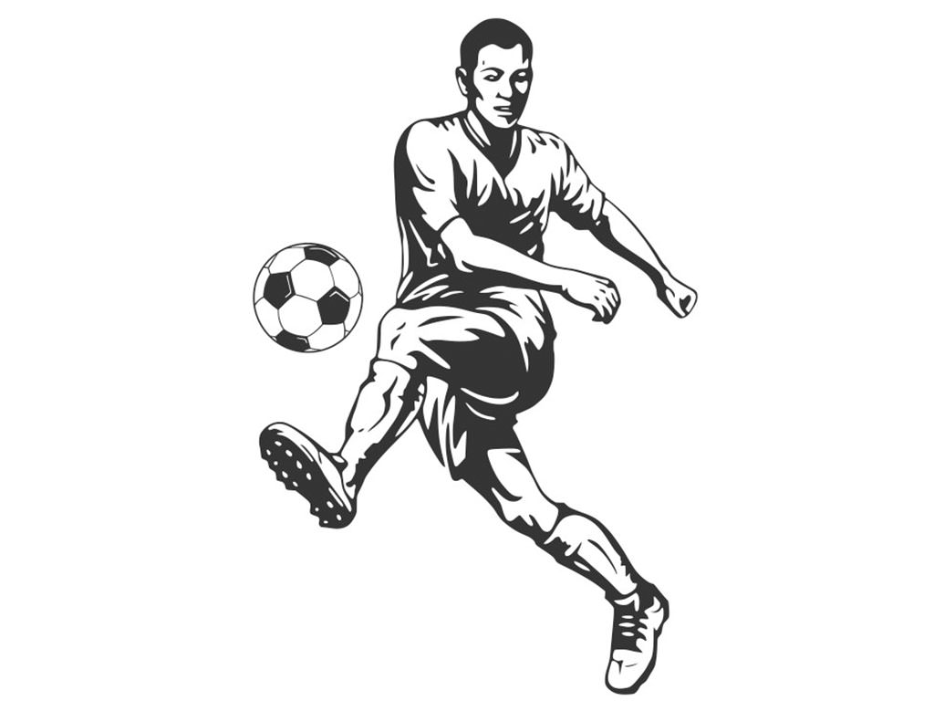 Sticker grafic Fotbalist