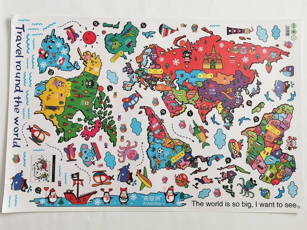 sticker-copii-harta-lumii-colorata